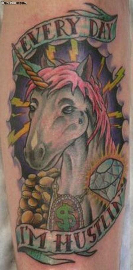 Einhorn-Tattoo