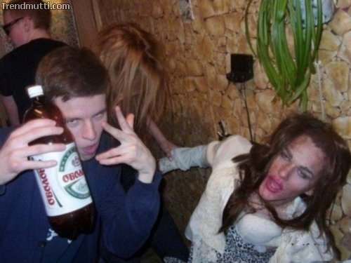 Gesichter des Alkohols