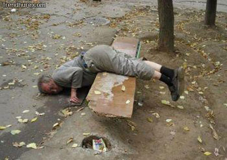 Betrunkene Menschen