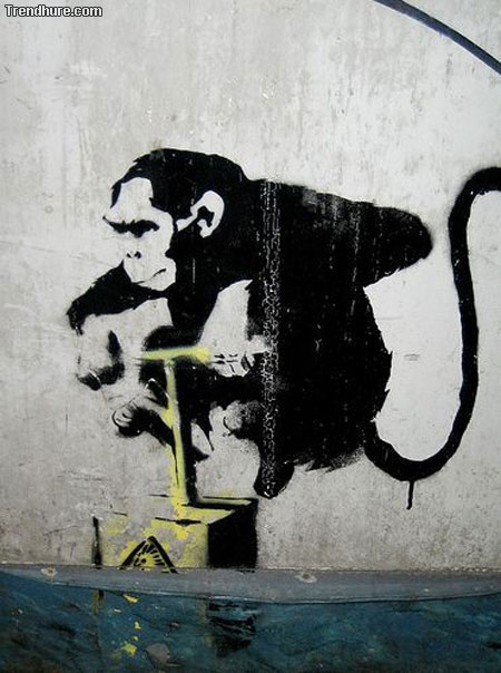 Robert Banksy Graffiti-Art