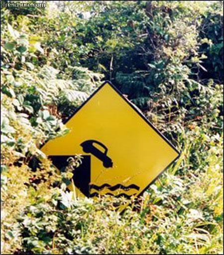komisches Schild