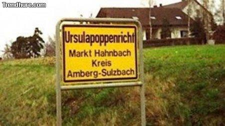Kuriose Ortsnamen