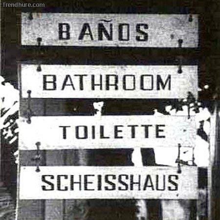 Schilder mit Pannen