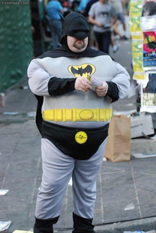 Dicke Batmans und Spidermans