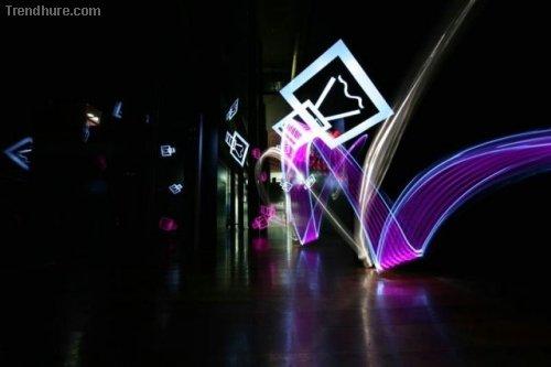 Kunst mit Licht