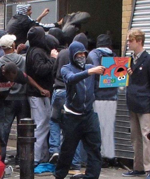 Londons Plünderer Photoshopped