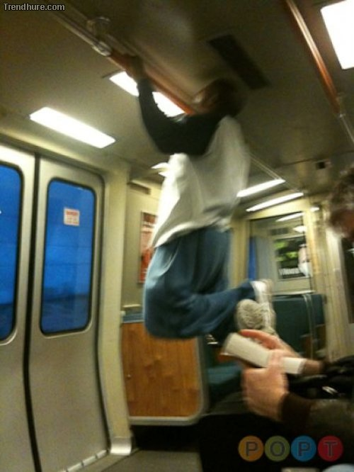 Menschen in der U-Bahn