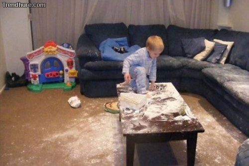 Niemals Kinder alleine lassen