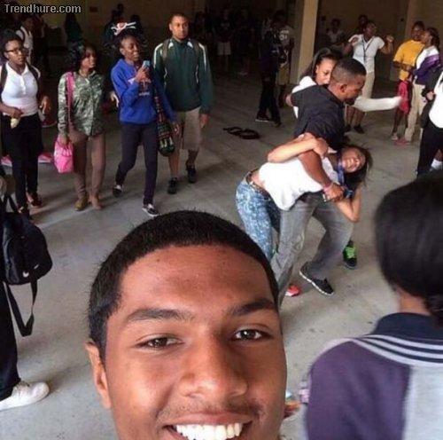 Kein guter Zeitpunkt für einen Selfie