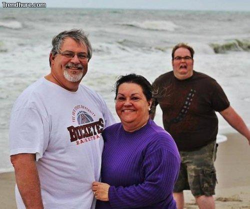 Komische Geischter auf Fotos