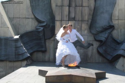 Russische Hochzeitsfotos